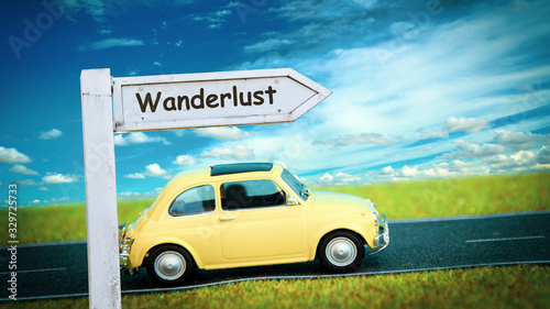 Street Sign to Wanderlust Canvas Print