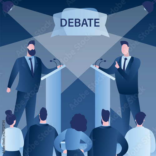 Foto Open debates before Vote
