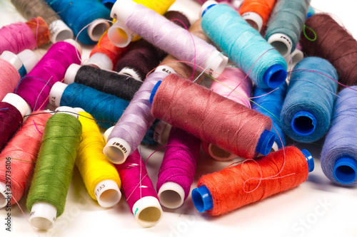 Textured, background, Drawing, Bobbins with threads of different colors Wallpaper Mural