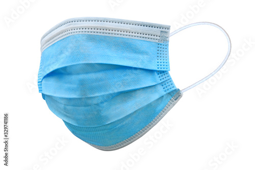 Obraz Doctor mask and corona virus protection isolated on a white background, Covid-19, With clipping path - fototapety do salonu