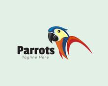 Simple Parrots Half Body Logo Design Inspiration