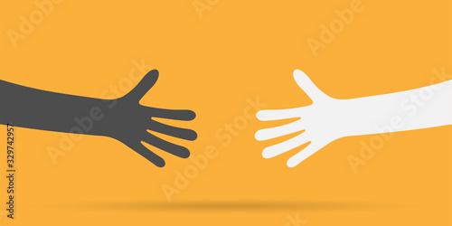 Photo Shaking hands business vector illustration