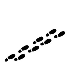 The Footprints Icon. Raster Il...