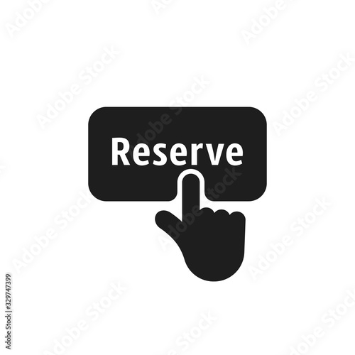 Fotografie, Tablou finger presses on black simple reserve button