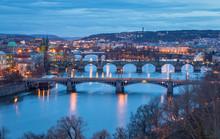 Prague Bridges - Famous View F...