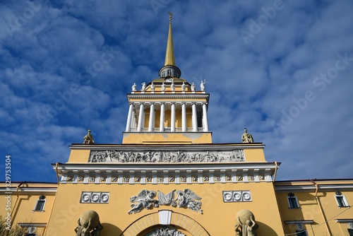 Architecture of Saint-Petersburg, Russia. Admiralty building. Canvas Print