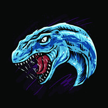 Velociraptor Head Vector Illus...