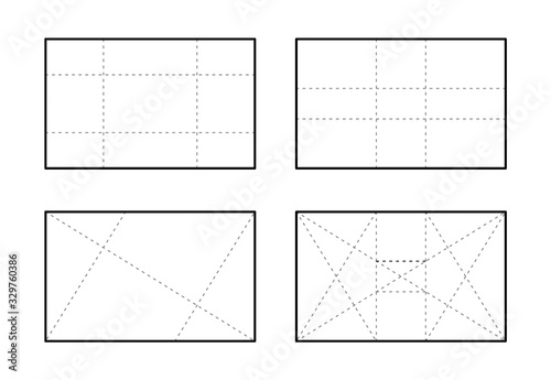 Foto Golden ratio template for desing