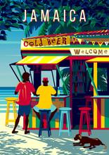 Jamaica Island Landscape With ...