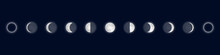 Lunar Phases. Cycle From The F...
