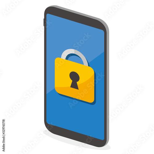 Photo secure flat icon illustration vector