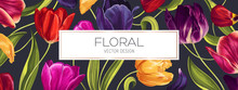 Spring Floral Vector Backgroun...