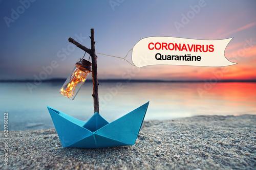obraz dibond Coronavirus Quarantäne Kreuzfahrt