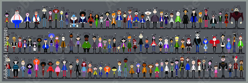 Personaggi e caricature serie 1 Canvas-taulu