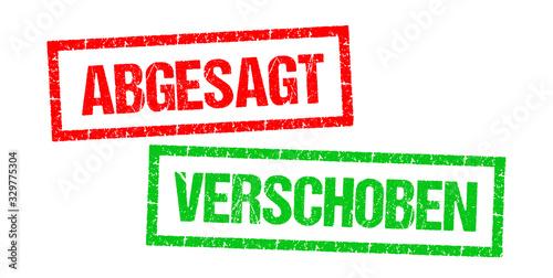 Leinwand Poster Abgesagt / Verschoben