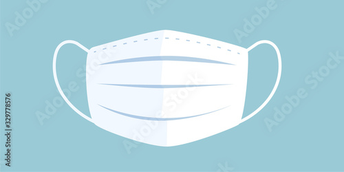 Fotomural Vector illustration of medical mask