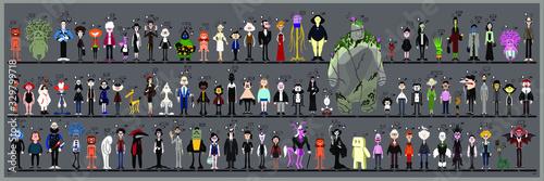 Personaggi e caricature serie 4 Canvas Print