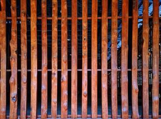 Wood, bark, wall made of bark, wall made of bark. Jackfruit wood.