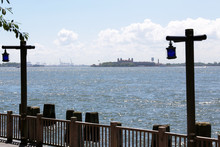 Ellis Island View From Battery Park, New York City, USA