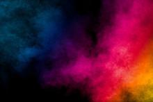 Multi Colored Particles Explos...