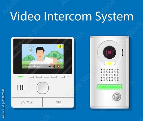 video intercom system audio mobile app closed circuit television doorbell preven Canvas Print