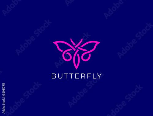 Fototapeta Butterfly logo