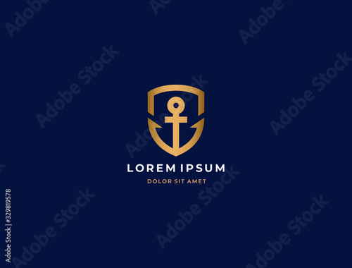 Cuadros en Lienzo Anchor logo icon design template