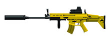 Assault Rifle In Gold Color