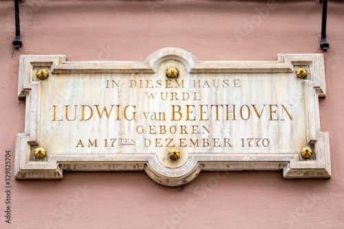 Ludwig van Beethoven Birthplace in Bonn, Germany Canvas Print