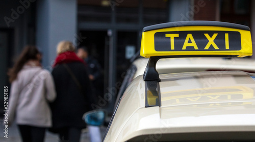 Canvas Taxi Sign
