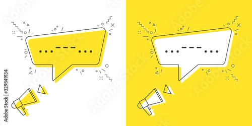 Megaphone with important message speech bubble Canvas Print