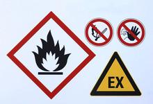 Various Warning Signs For Liqu...