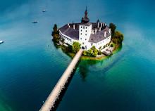 Aerial View Of Gmunden Schloss...