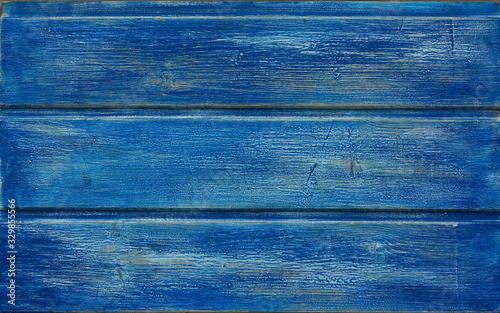 viejo y desgastado fondo de madera azul Canvas Print