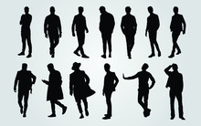 Silhouettes Of Casual People I...