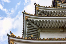Japanese Style Building Roof From Bottom