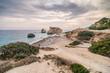 Love beach. Aphrodite's Rock. Aphrodite's birthplace near Paphos City. The rock of the Greek Petra tou Romiou. Cyprus island