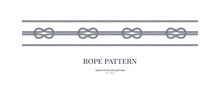 Nautical Knots And Rope Seamless Patterns