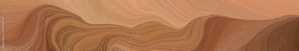 creative banner with pastel brown, dark salmon and chocolate color. modern soft curvy waves background illustration