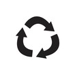 Recycle icon for webs and apps,solid color
