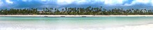 Panoramic View Of The Beach In...