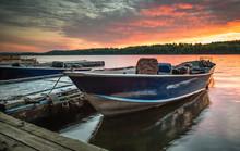 Spring Sunset At Clear Lake, Ontario