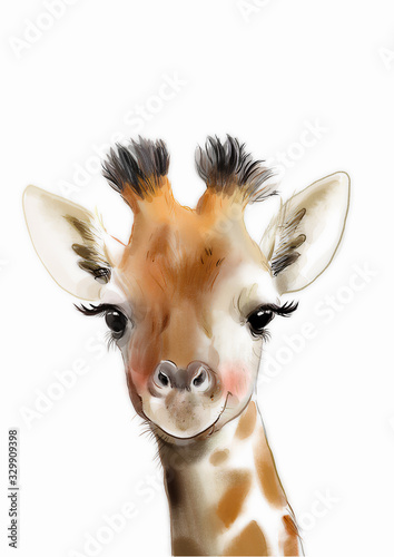 Safari nursery art • Giraffe print • PRINTABLE art • Safari animals wall art • B Wallpaper Mural
