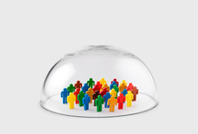 Colorful Group Of People Figur...