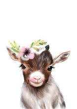 Goat With Flower Crown • PRI...