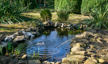 Beautiful Small Garden Pond Wi...