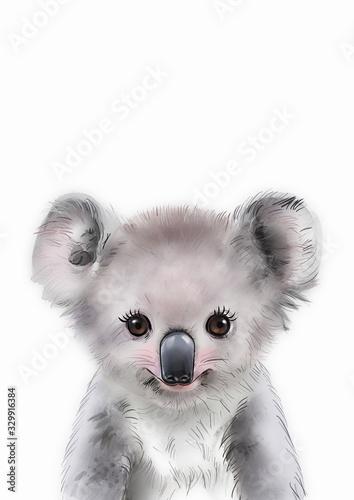 Koala print • PRINTABLE art • Nursery animals • Animal prints • • Nursery wall a Canvas Print