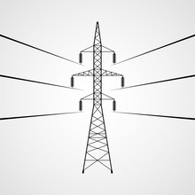 Electricity Pylon Vector Icon....