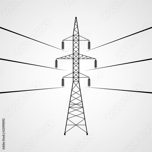 Electricity pylon vector icon Canvas-taulu