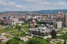"City Park, The National Library Of Kosovo ""Pjetër Bogdani"", Pristina, Kosovo"